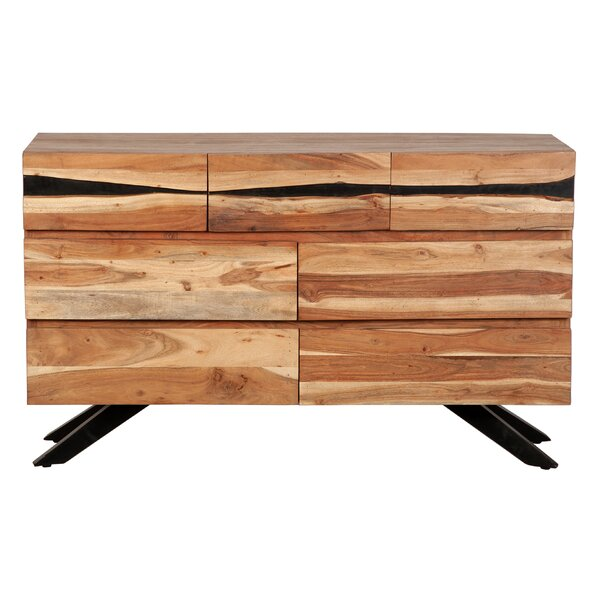 Benefiel 7 Drawer Double Dresser by Millwood Pines