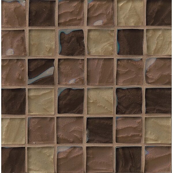 Priscilla 2 x 2 Glass Mosaic Tile in Beige by Grayson Martin