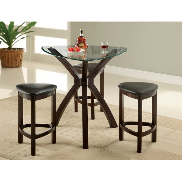 4 Piece Counter Height Dining Set by Hokku Designs