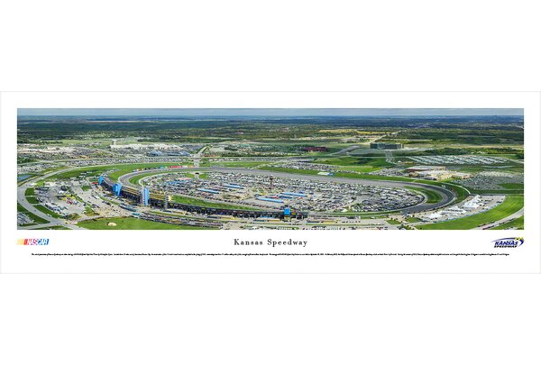 NASCAR Kansas Speedway by Christopher Gjevre Photographic Print by Blakeway Worldwide Panoramas, Inc
