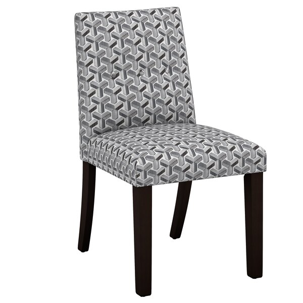Venne Ink Button Tapered Parsons Upholstered Dining Chair by Brayden Studio Brayden Studio