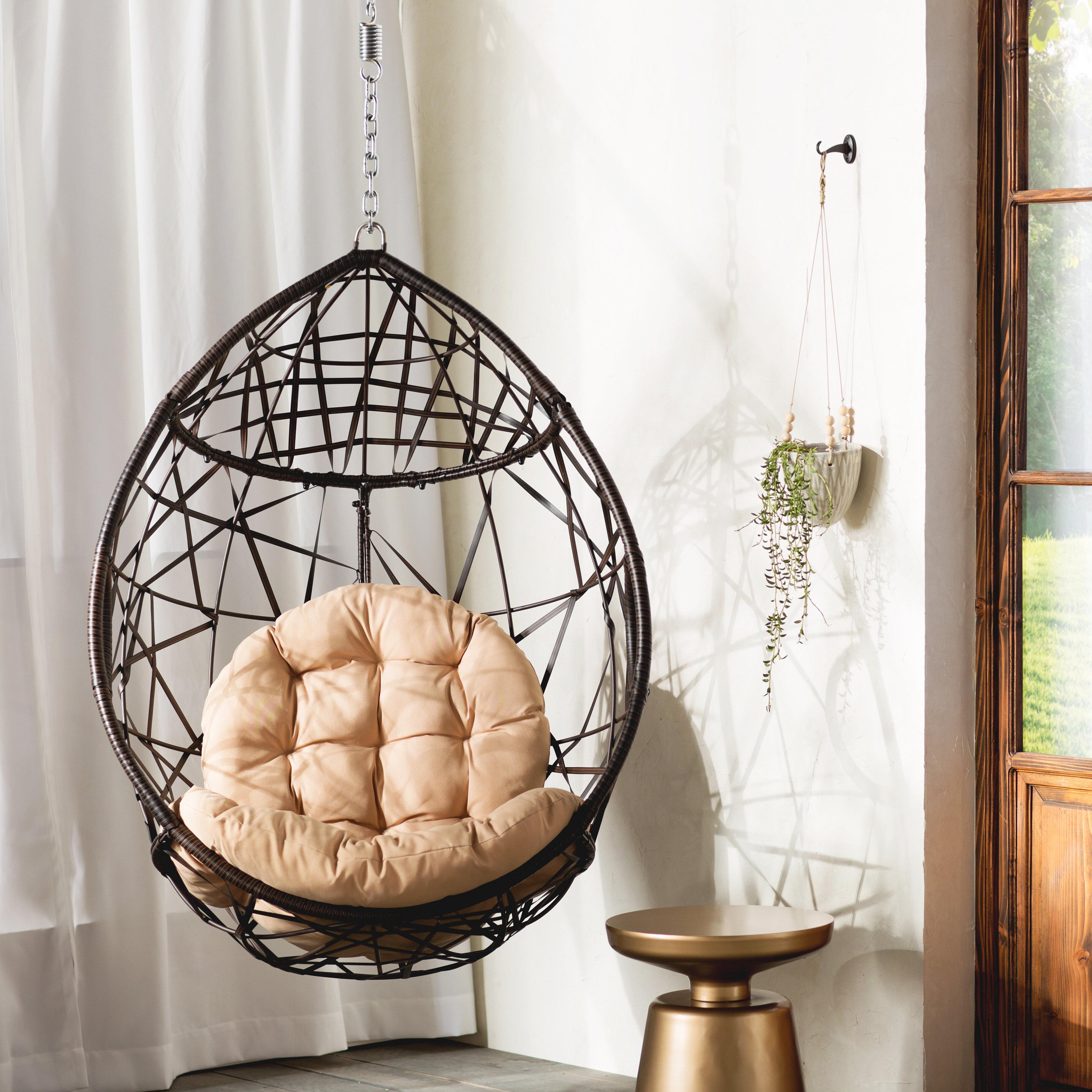 & Mistana Destiny Tear Drop Swing Chair with Stand u0026 Reviews | Wayfair