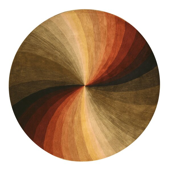 Hanchett Modern & Contemporary Abstract Hand-Tufted Wool Multi-colored Area Rug by Latitude Run