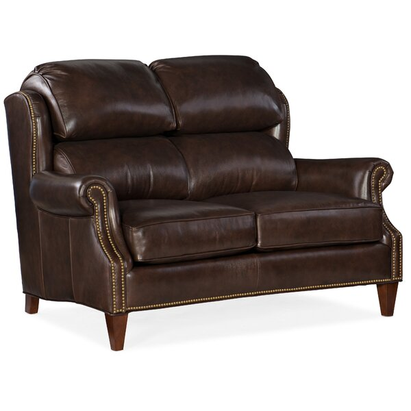Taylor Leather Loveseat By Bradington-Young