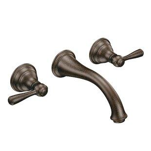Best Reviews Kingsley Wall Mounted Bathroom Faucet ByMoen