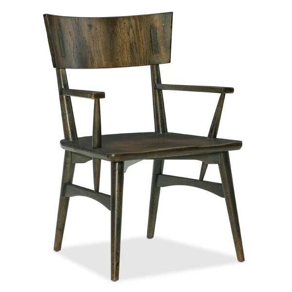 Crafted Dining Chair in Dark Wood (Set of 2) by Hooker Furniture Hooker Furniture