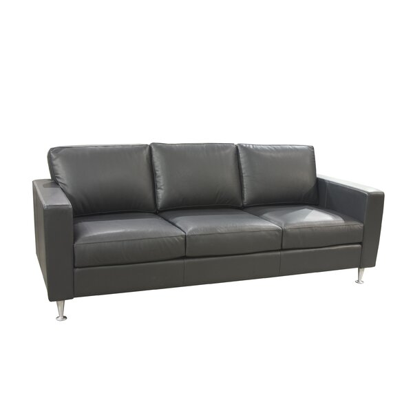 Erika Leather Sofa by 17 Stories