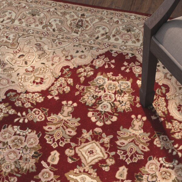OConnell Hand-Woven Red/Beige Area Rug by Astoria Grand