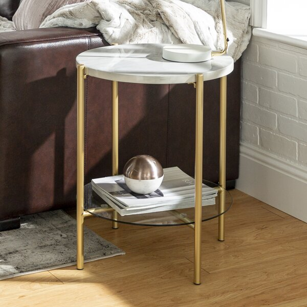 Carr Round End Table by Wrought Studio