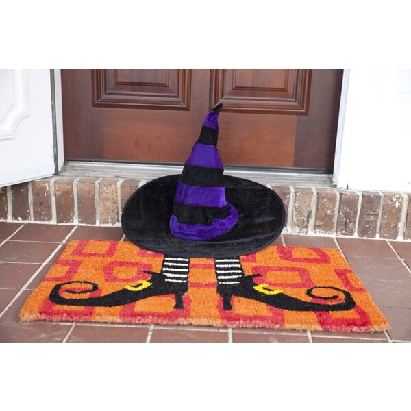 Handmade Wicked Witch Shoes Doormat by The Holiday Aisle
