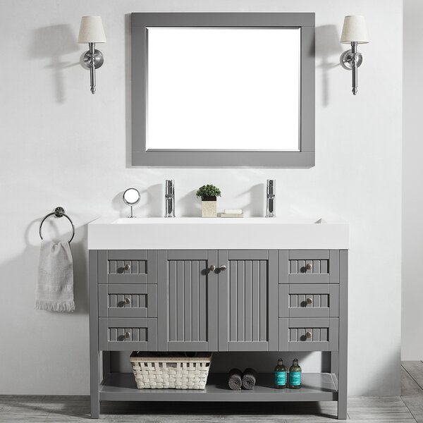 Harward 47 Single Bathroom Vanity Set with Mirror by Highland Dunes
