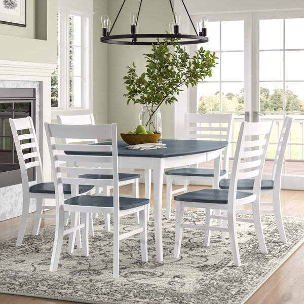 Loïc 7 Piece Extendable Solid Wood Dining Set by Birch Lane™ Heritage