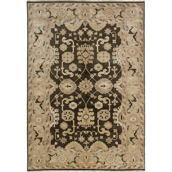 One-of-a-Kind Doggett Hand-Knotted Dark Gray Area Rug by Isabelline