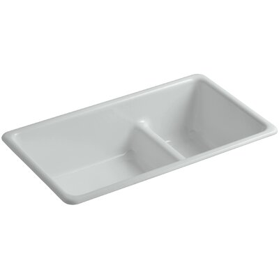Kitchen Sink Iron Large Medium Double Bowl Grey photo