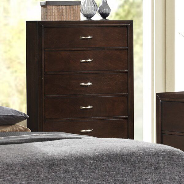 New Peasely 5 Drawer Chest By Ebern Designs Sale