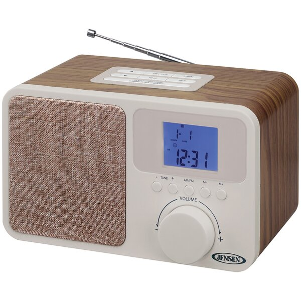 Digital AM/FM Dual Alarm Radio Tabletop Clock by Jensen