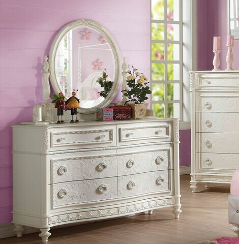 Ector 6 Drawer Double Dresser with Mirror by Harriet Bee