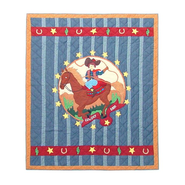Lil Buckaroo Cotton Throw Quilt by Patch Magic