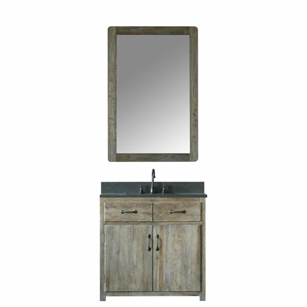 Alamo 36 Single Bathroom Vanity Set with Mirror by Laurel Foundry Modern Farmhouse