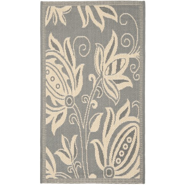 Massasoit Grey/Natural Indoor/Outdoor Area Rug by August Grove