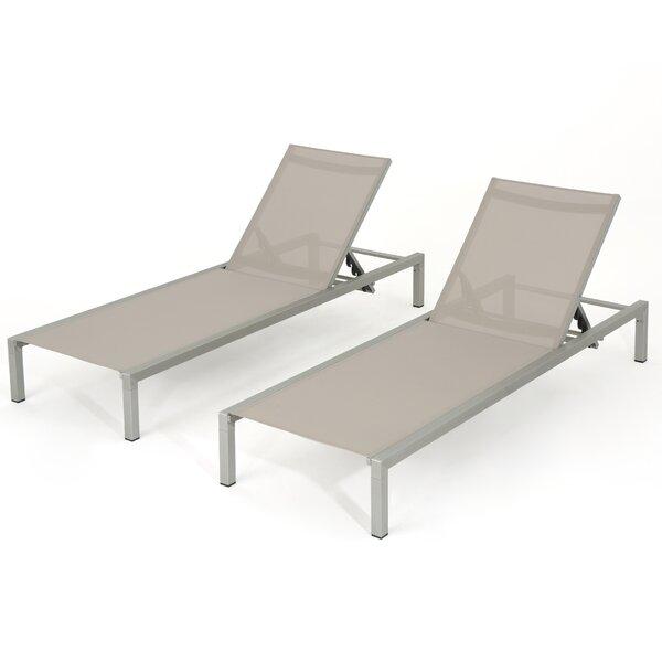 Sumfleth Reclining Chaise Lounge (Set of 2) by Latitude Run