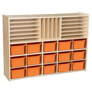 Contender 32 Compartment Cubby with Trays By Wood Designs