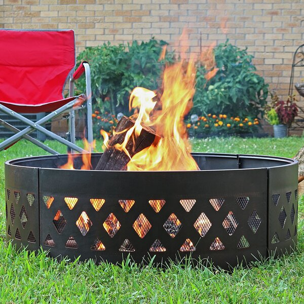 Margene Steel Fire Ring By Charlton Home.
