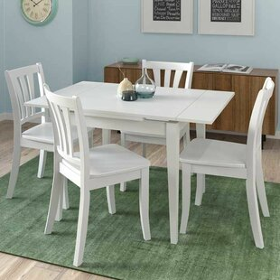 Liggett 5 Piece Extendable Solid Wood Dining Set By Three Posts