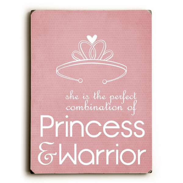 Princess & Warrior Textual Art by Artehouse LLC