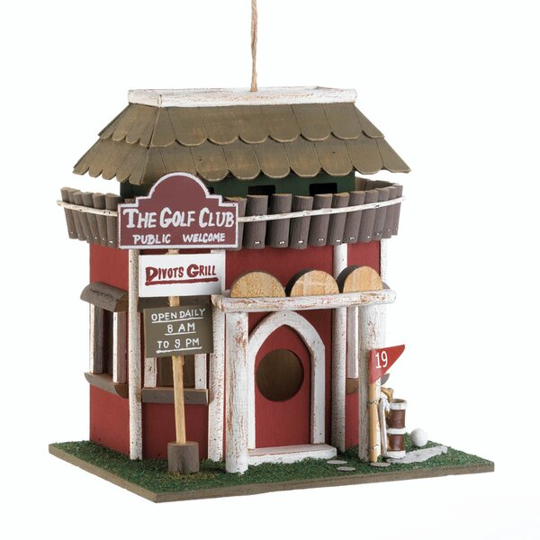 Golf Course Clubhouse 10 in x 9.5 in x 7.5 in Birdhouse by Zingz & Thingz
