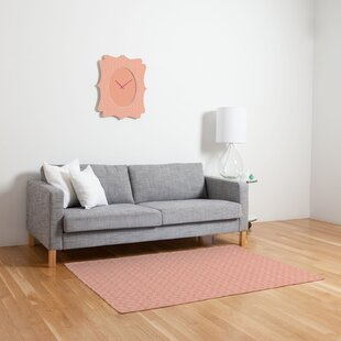Mod Circles Orange Area Rug by East Urban Home