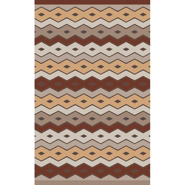 Native Geometric Hand Woven Wool Brown/Beige Area Rug by Aimee Wilder Designs