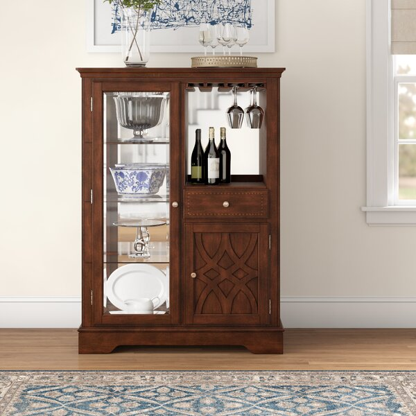 Insley Lighted China Cabinet By Three Posts