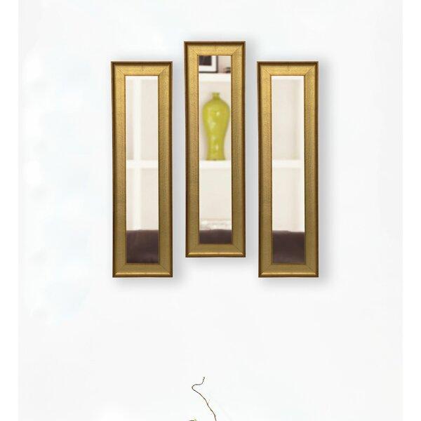 3 Piece Nikolas Panels Mirror Set (Set of 3) by House of Hampton