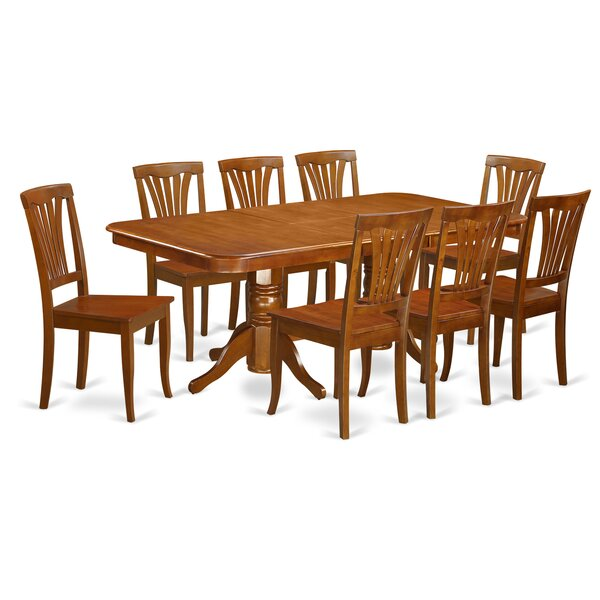 Pillsbury 9 Piece Dining Set with Rectangular Table Top by August Grove
