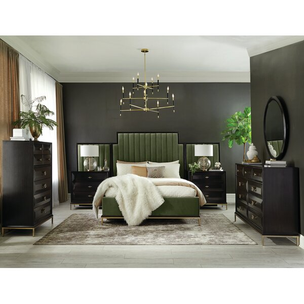 Sayre Upholstered Standard Bed by Everly Quinn