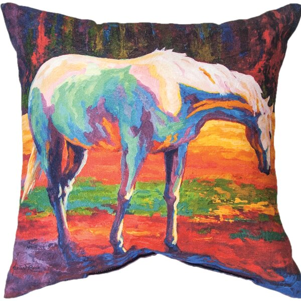 Horse Throw Pillow by Manual Woodworkers & Weavers