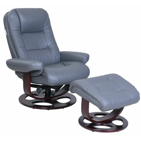 Relax Manual Swivel Recliner with Ottoman W001918185