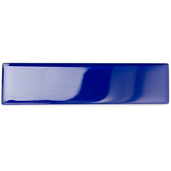 Contempo 2 x 8 Glass Subway Tile in Royal Blue by Splashback Tile