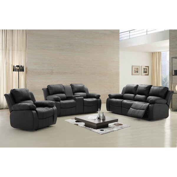Steinbeck Reclining 3 Piece Living Room Set by Red Barrel Studio
