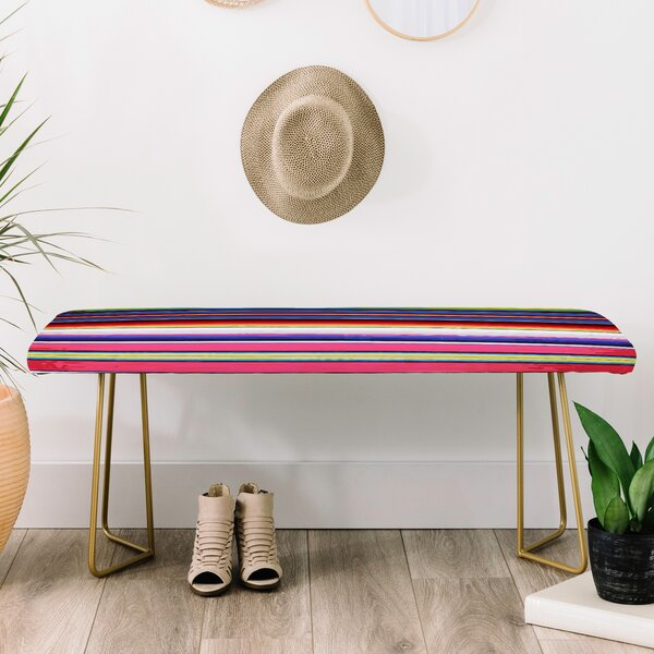 Deb Haugen Faux Leather Bench by East Urban Home