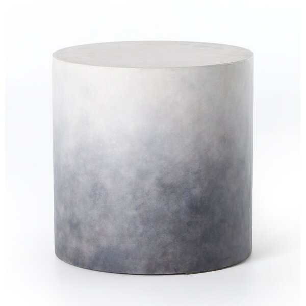 Scates Stone/Concrete Side Table by Union Rustic