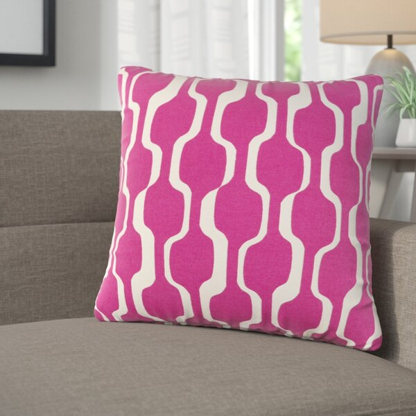 Arsdale Graphic Print Square Cotton Throw Pillow by Langley Street