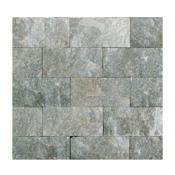 2 x 4 Natural Stone Splitface Mosaic Tile in Icelandic Blue Sky by QDI Surfaces