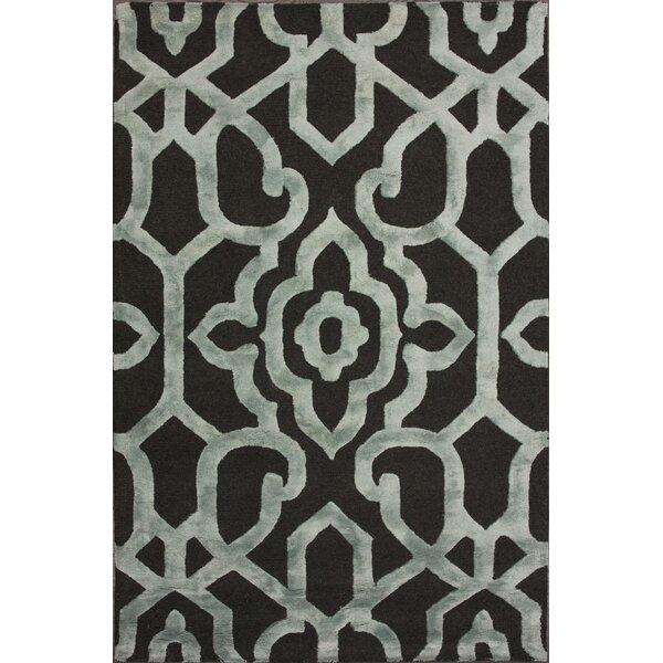 Rocha Hand-Woven Gray/Black Area Rug by House of Hampton