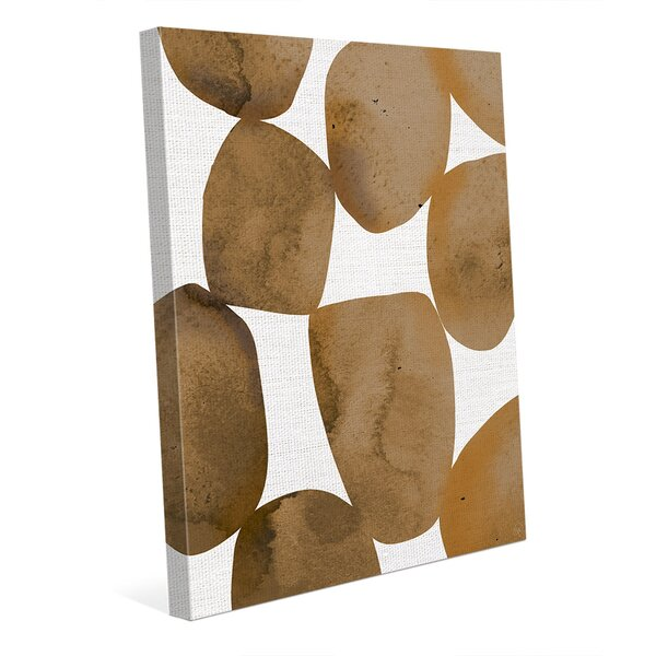 Orange Rocks Graphic Art on Wrapped Canvas by Click Wall Art