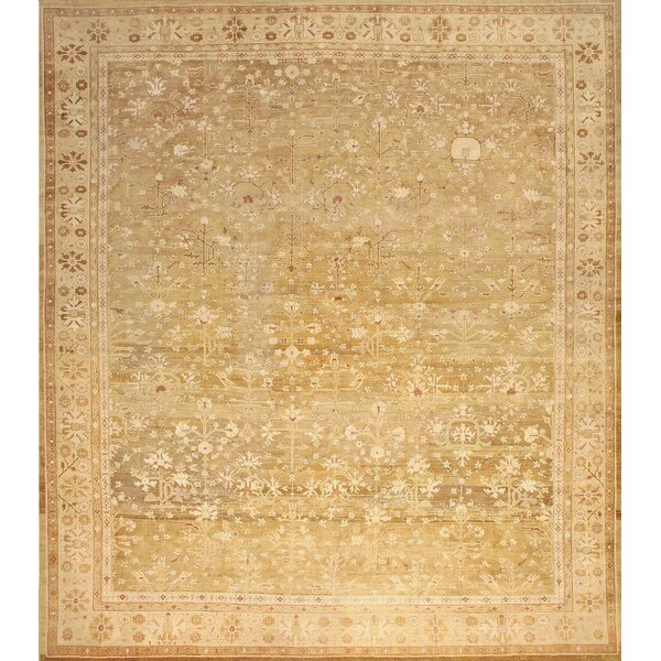 One-of-a-Kind Amritsar Hand-Knotted Brown 15' x 17' Wool Area Rug