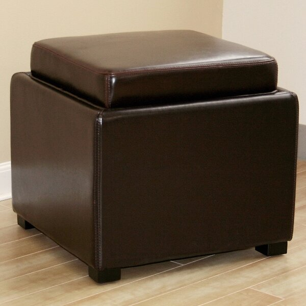 Spicer Leather Storage Ottoman By Ebern Designs