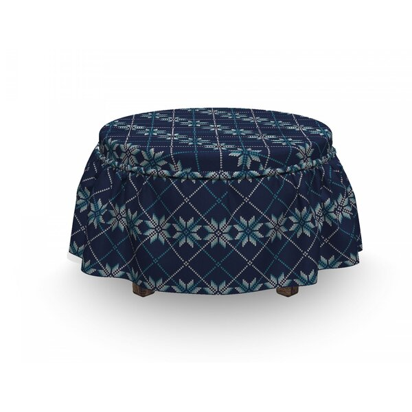 Winter Holiday Ottoman Slipcover (Set Of 2) By East Urban Home