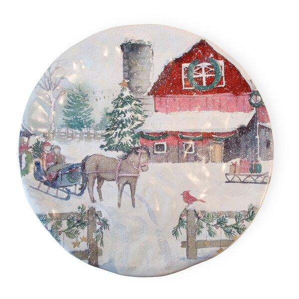 Ferris Christmas on the Farm 12 Dinner Plate by The Holiday Aisle